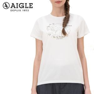 レディース エーグル AIGLE SOEILプリント Tシャツ 半袖 ZTF012J 吸水速乾|s-puresuto