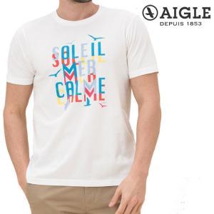 エーグル AIGLE グラフィックTシャツ 半袖 メンズ ZTH014J 吸水速乾 s-puresuto