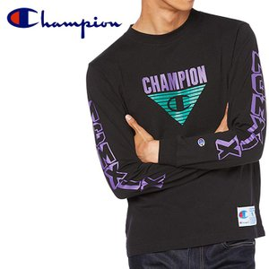 チャンピオン champion ロングスリーブ Tシャツ 長袖 メンズ C3-Q408 19FW  アクションスタイル|s-puresuto