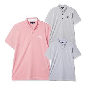 キャロウェイ コードレーン カラー半袖ポロシャツ ボタンダウンシャツ メンズ 241-0134520 s-puresuto