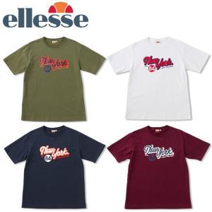 エレッセ ellesse ニューヨークシティ ヘリテージ 天竺 半袖 Tシャツ EE17105|s-puresuto