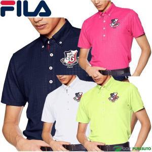 フィラゴルフ 半袖 ボタンダウンポロシャツ メンズ 749-602 千鳥柄|s-puresuto