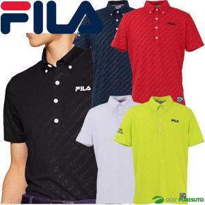 フィラゴルフ ボタンダウン 半袖ポロシャツ メンズ 749-607 FILAロゴエンボス|s-puresuto