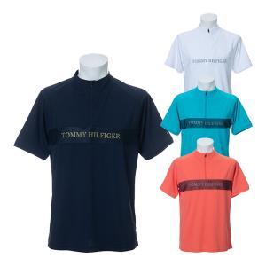 トミー ヒルフィガー ゴルフ 半袖ハーフジップシャツ THロゴ ゴルフウェア メンズ THMA031|s-puresuto