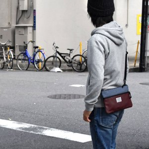 ショルダーバッグ ショルダーバック メンズ ポリキャンバス フェイクレザー バイカラー サコッシュバッグ s-rana 09