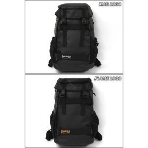 リュック リュックサック メンズ/THRASHER スラッシャー ブランド THRPN-8900/コーティング ボードストラップ フラップ|s-rana|02