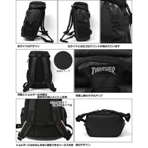 リュック リュックサック メンズ/THRASHER スラッシャー ブランド THRPN-8900/コーティング ボードストラップ フラップ|s-rana|03