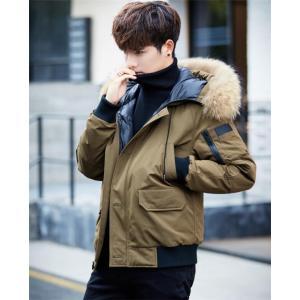 bc6aa8bae617 ダウンジャケット メンズ ダウンコート モッズコート ショート 暖かい コート 秋 冬 防寒服 カジュアル