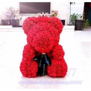バラ ローズ ブーケ Rose クマ クリスマス サンタ プレゼント ギフト 愛の告白 誕生日 結婚記念日 愛を伝える