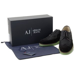 アルマーニ ジーンズ ARMANI JEANS カジュアルシューズ #41 メンズ靴 スニーカー ブラック|s-select