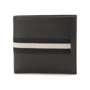 バリー BALLY TYE-290 二つ折り財布 ブラック ...
