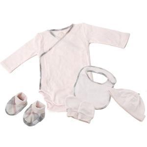 バーバリー BURBERRYベビー 出産祝い 赤ちゃん 3ヶ月/60cm ボディスーツ 帽子 ミトン ブーティー スタイピンク B98489 s-select