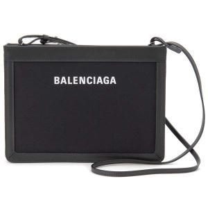 バレンシアガ BALENCIAGA ショルダーバッグ レディース 339937 AQ37N 1000 ネイビー ポシェット ブラック|s-select