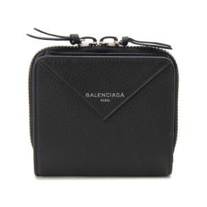 バレンシアガ 二つ折り財布 BALENCIAGA 371662 DLQ0N 1000 PAPER ZA BILLFOLD ブラック【送料無料】|s-select