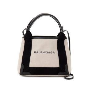 バレンシアガ BALENCIAGA トートバッグ 390346-AQ38N-1081 NAVY CABAS XS AJ キャンバス ブラック 新品|s-select