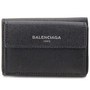 バレンシアガ BALENCIAGA 三つ折り財布 レディース 410133 DLK0N 1000 ブラック|s-select