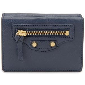 バレンシアガ BALENCIAGA 財布 477455 D940G 4030 CLASSIC MINI クラシック ミニ ブルー 三つ折り財布【送料無料】|s-select