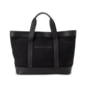 バレンシアガ BALENCIAGA トートバッグ 479290 AQ3AN 1000 NAVY TOTE キャンバス ブラック 新品【送料無料】|s-select