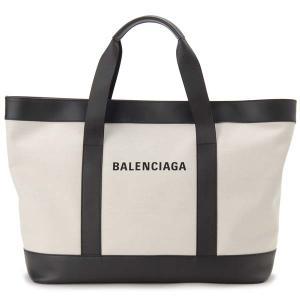 バレンシアガ BALENCIAGA トートバッグ 479290 AQ3AN 1000 NAVY TOTE キャンバス ナチュラル×ブラック 新品 【送料無料】|s-select