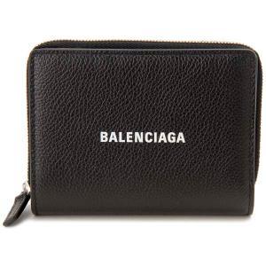 バレンシアガ BALENCIAGA 二つ折り財布 ブラック 650879 1IZI3 1090 CASH キャッシュ コンパクト財布|s-select