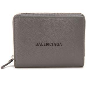 バレンシアガ BALENCIAGA 二つ折り財布 グレー 650879 1IZI3 1260 CASH キャッシュ コンパクト財布|s-select
