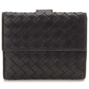 ボッテガ・ヴェネタ Bottega Veneta 二つ折り財布 レディース ブラック 382576 V001N 1000 イントレチャート|s-select