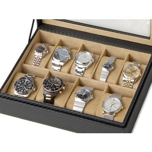 時計収納ケース ウォッチケース CABOX8 カーボン調 9本収納時計ケース コレクションボックス 時計雑貨|s-select
