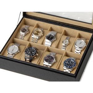 時計収納ケース ウォッチケース CCBOX8 クロコダイル型押し 9本収納時計ケース コレクションボックス 時計雑貨|s-select