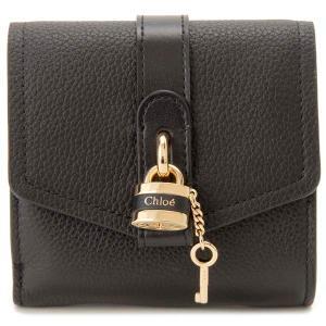 クロエ CHLOE 三つ折り財布 レディース ブラック 黒 20WP315 D42 001 ABY アビィ コンパクト財布|s-select