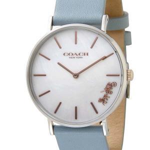 コーチ COACH レディース腕時計 Perry ペリー 36mm ホワイトパール×ライトブルー 14503271|s-select