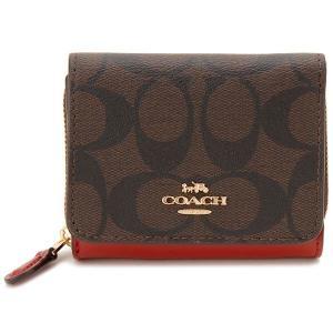 コーチ COACH 三つ折り財布 レディース ブラウン 7331 IMRVQ シグネチャー コンパクト財布|s-select