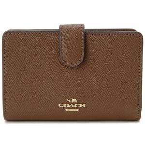 コーチ 二つ折り財布 COACH F11484 IMEB0 コンパクト財布 ブラウン レディース|s-select