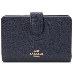 コーチ 二つ折り財布 COACH F11484 IMMID コンパクト財布 ミッドナイト レディース|s-select