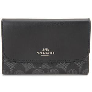 コーチ COACH 三つ折り財布 F32485 SVDK6 コンパクト財布 ブラックスモーク×ブラック レディース|s-select