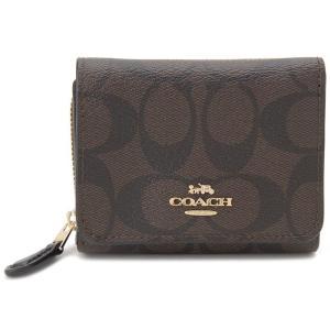 コーチ COACH 三つ折り財布 F41302 IMAA8 コンパクト財布 ブラウン×ブラック レディース 新品|s-select