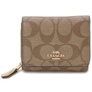 コーチ COACH 三つ折り財布 レディース F41302 IMDXD シグネチャー コンパクト財布 イエロー|s-select