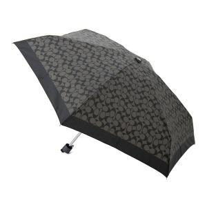 コーチ 折りたたみ傘/日傘 COACH F63365SLCBK シグネチャーミニ アンブレラ ブラック|s-select