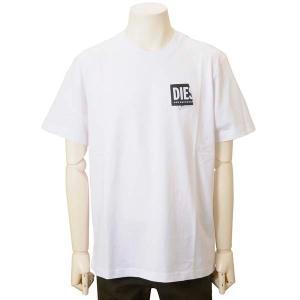 クリアランスセール ディーゼル DIESEL Tシャツ メンズ ホワイト A023690HAYU100 ロゴTシャツ カットソー s-select