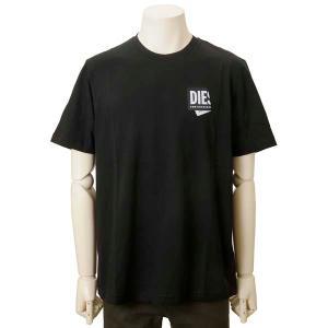 クリアランスセール ディーゼル DIESEL Tシャツ メンズ ブラック A023690HAYU9XX ロゴTシャツ カットソー s-select