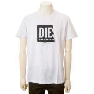 クリアランスセール ディーゼル DIESEL Tシャツ メンズ ホワイト A023780 HAYU 100 ブランド ロゴTシャツ s-select