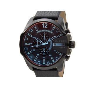 ディーゼル DIESEL 時計 DZ4323 Mega Chief メガチーフ クロノグラフ レザーベルト ブラック  メンズ 腕時計【送料無料】|s-select
