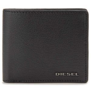 クリアランスセール ディーゼル DIESEL 二つ折り財布 メンズ ブラック 黒 X06627 P0396 T8013 HIRESH S|s-select