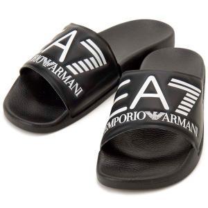 サマークリアランス エンポリオアルマーニ EMPORIO ARMANI EA7 シャワーサンダル ブラック メンズ レディース XCP001|s-select