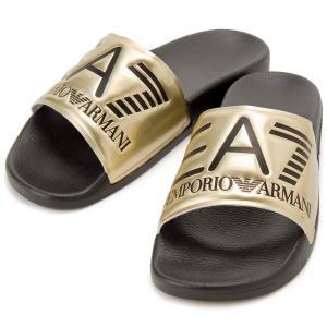 クリアランスセール エンポリオアルマーニ EMPORIO ARMANI EA7 シャワーサンダル ゴールド メンズ レディース XCP001 s-select