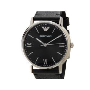 エンポリオアルマーニ EMPORIO ARMANI  時計 AR11013 KAPPA カッパ レザーベルト ブラック メンズ 腕時計【送料無料】|s-select