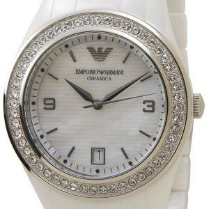 エンポリオ アルマーニ EMPORIO ARMANI 男女兼用 腕時計 セラミカ ホワイト ジルコニアトリム AR1426 ブランド|s-select