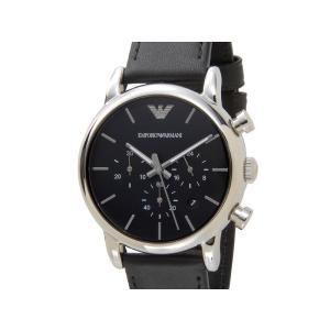 エンポリオアルマーニ EMPORIO ARMANI  時計 AR1733 Classic クラシック クロノグラフ ブラック レザーベルト メンズ 腕時計【送料無料】 s-select