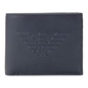 エンポリオ アルマーニ EMPORIO ARMANI 二つ折り財布 Y4R165 YG90J 80033 ネイビーブルー メンズ 財布 s-select