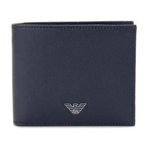 エンポリオ アルマーニ 二つ折り財布 YEM122 YAQ2E 81960 BURNING BLUE ネイビー メンズ|s-select