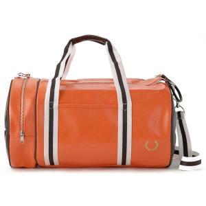 フレッドペリー ドラム ボストンバッグ オレンジ FRED PERRY 1121 206 ブランド|s-select